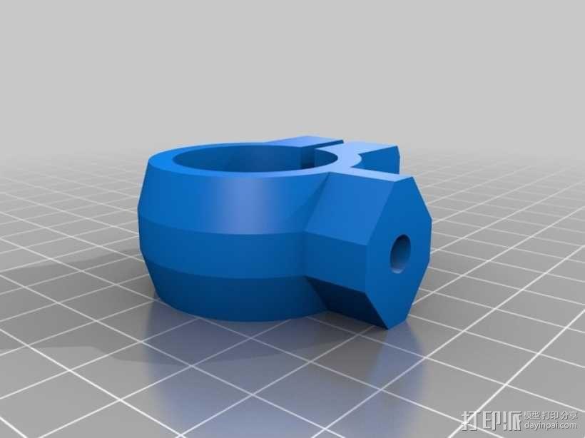 三脚架连接头 连接器 3D模型  图2