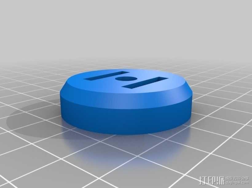 三脚架连接头 连接器 3D模型  图4