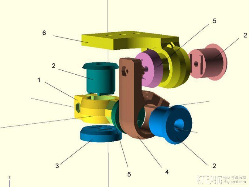 三脚架连接头 连接器 3D模型  图15