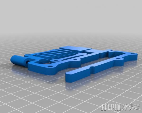 可调节平板电脑支撑架 3D模型  图1