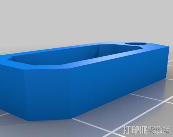 Macbook苹果电脑充电适配器 3D模型  图2