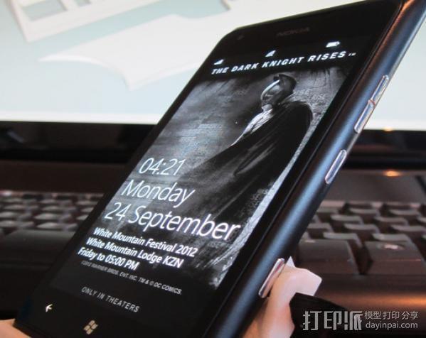 Nokia Lumia 900手机支架 蝙蝠侠 3D模型  图4