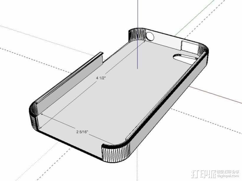 iPhone 4手机保护套 3D模型  图1
