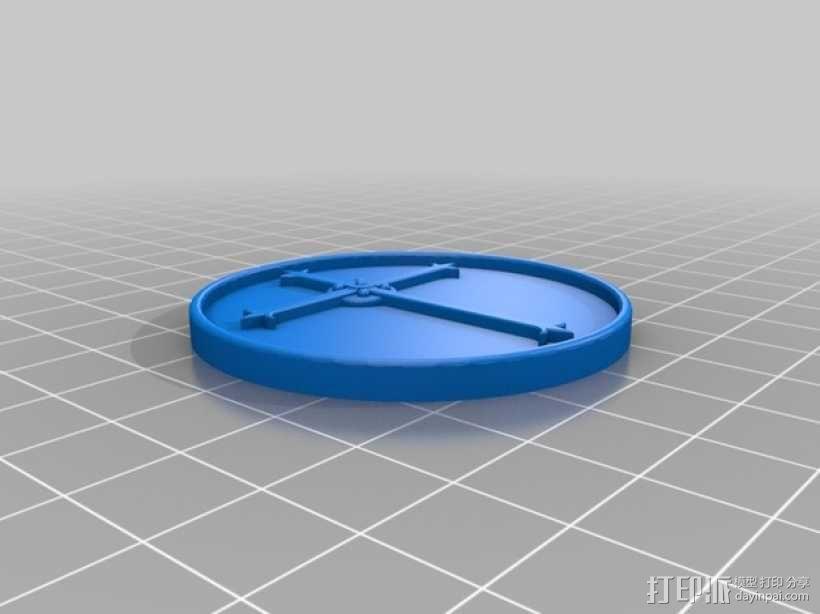 天启 硬币徽章 3D模型  图2