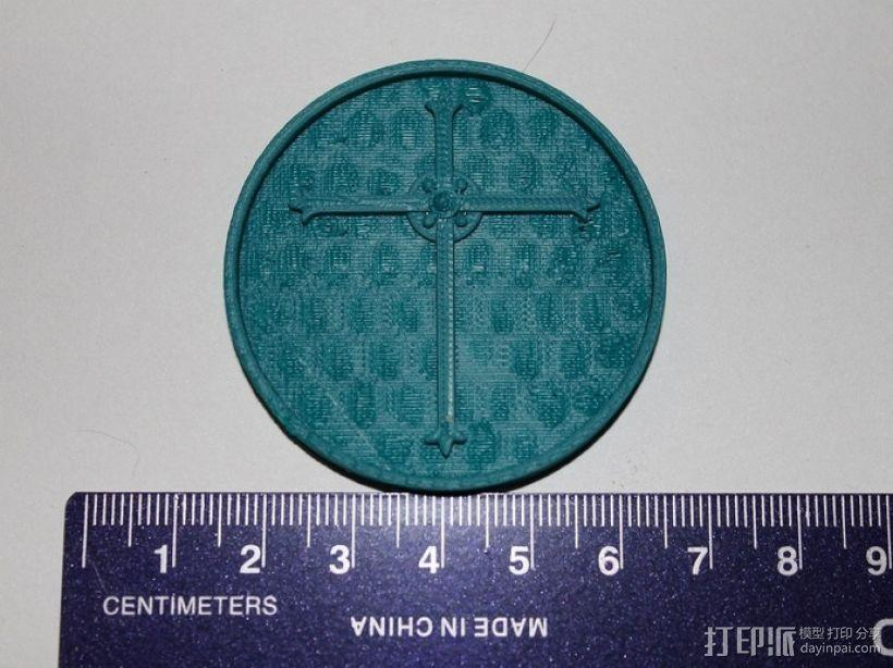 天启 硬币徽章 3D模型  图3
