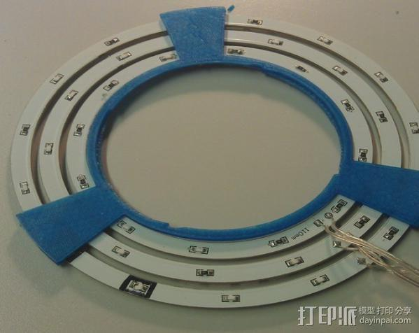 相机镜头LED灯环 3D模型  图2