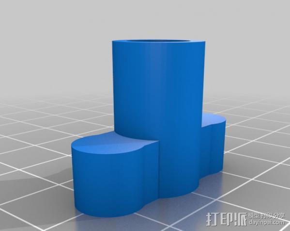 manfrotto曼富图 501 相机支撑架连接器 3D模型  图2