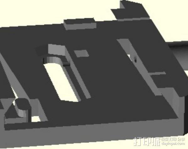 manfrotto曼富图 501 相机支撑架连接器 3D模型  图4