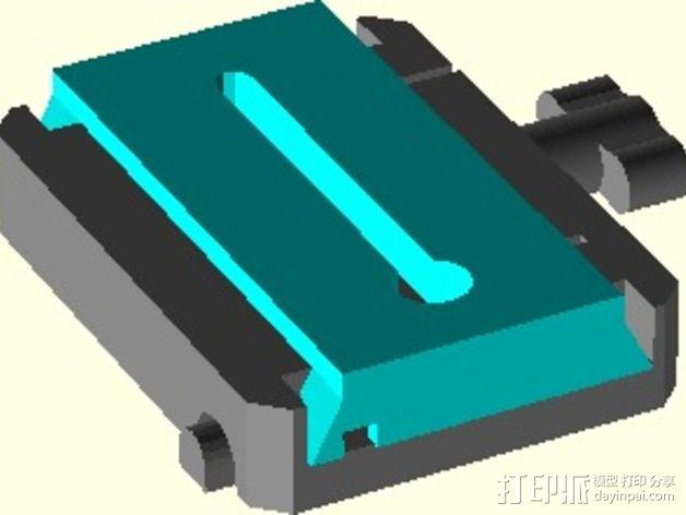 manfrotto曼富图 501 相机支撑架连接器 3D模型  图3