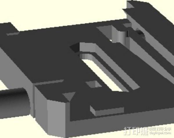 manfrotto曼富图 501 相机支撑架连接器 3D模型  图5
