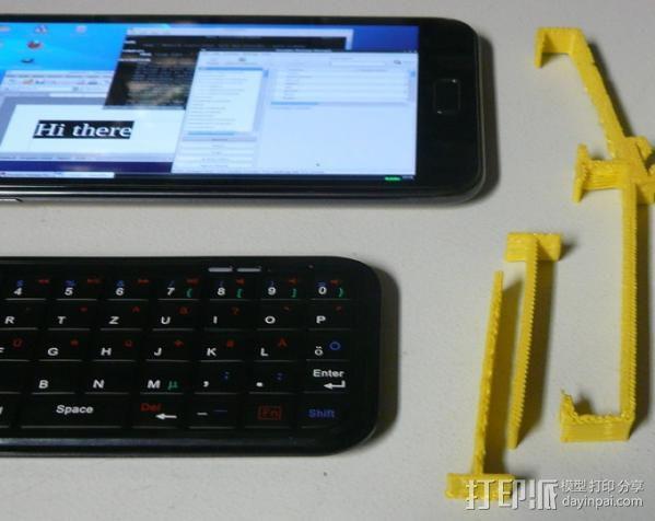 三星Galaxy Note手机支架 键盘支架 3D模型  图4