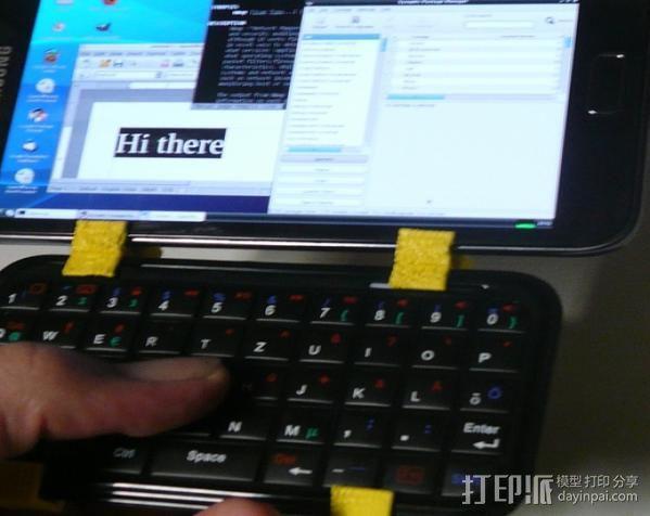 三星Galaxy Note手机支架 键盘支架 3D模型  图6