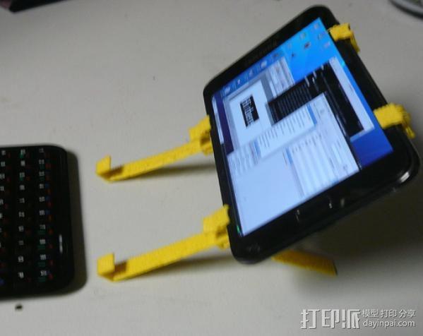 三星Galaxy Note手机支架 键盘支架 3D模型  图8