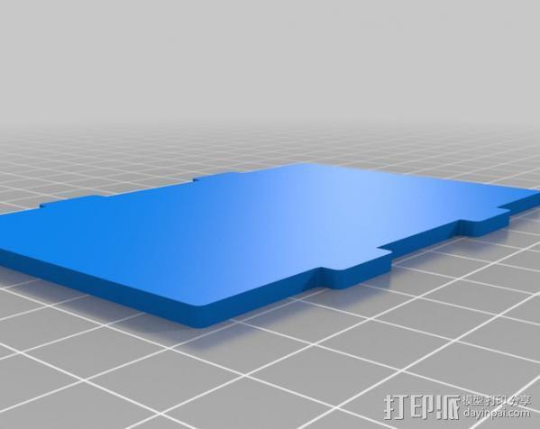 树莓派电路板保护盒  3D模型  图3