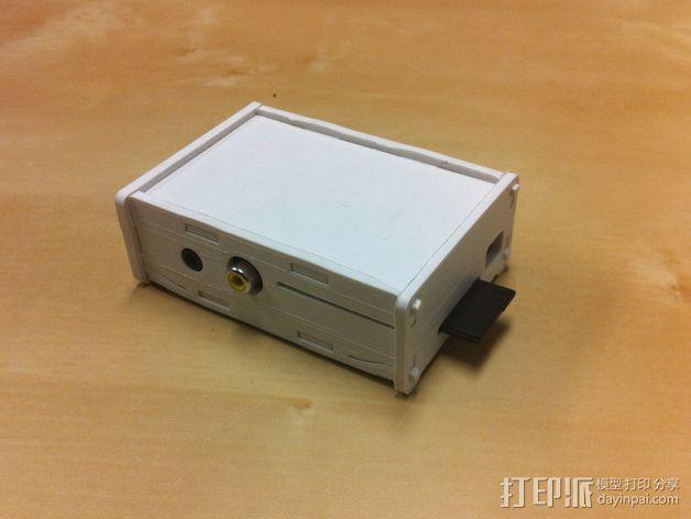 树莓派电路板保护盒  3D模型  图4