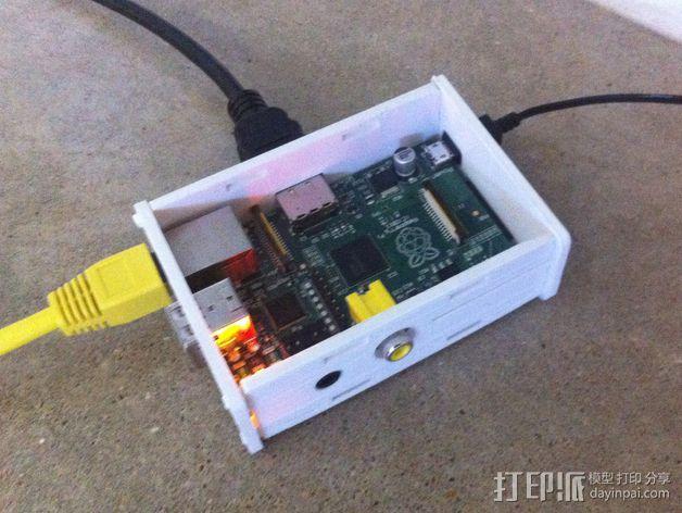 树莓派电路板保护盒  3D模型  图5