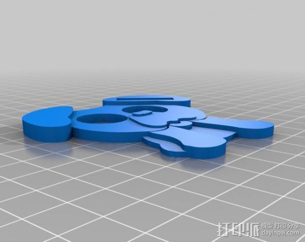 哈巴狗耳机收纳器 3D模型  图2