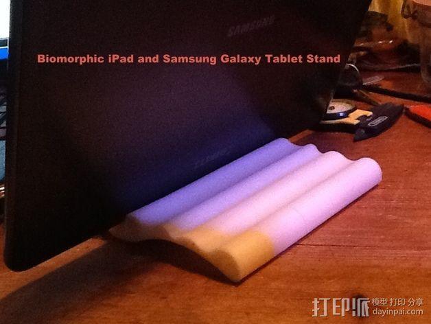 iPad 2, Samsung Galaxy平板电脑支撑架 3D模型  图8