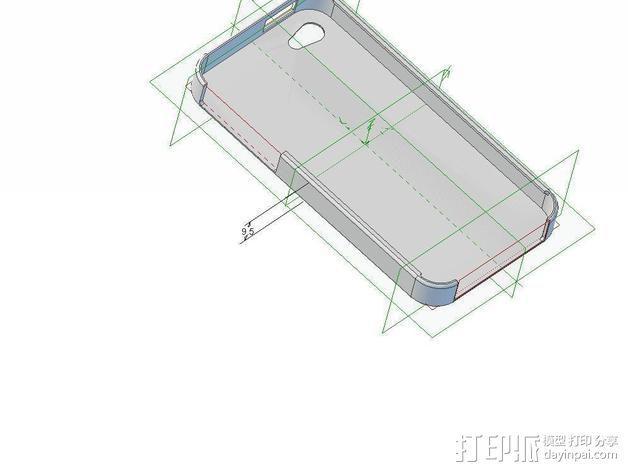 iPhone 4 手机保护外壳 3D模型  图2