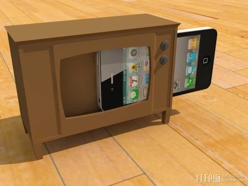 iPhone手机支架 电视 3D模型  图1