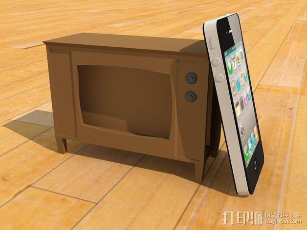 iPhone手机支架 电视 3D模型  图4