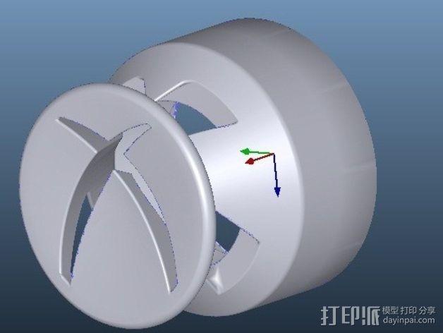 Xbox游戏机操纵杆延长连接器 3D模型  图2