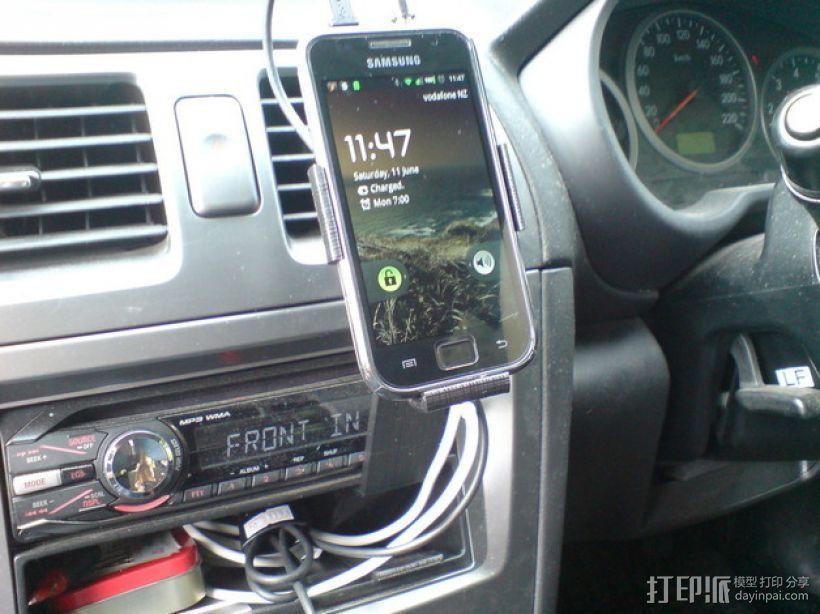 车载式Galaxy S手机支架 3D模型  图1