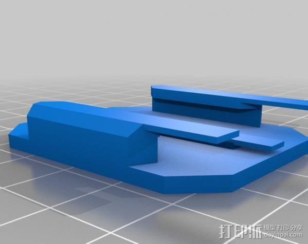 GoProHD相机支架 3D模型  图2