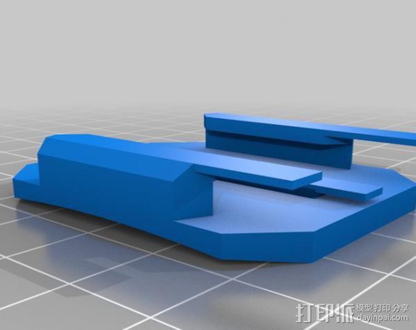 GoProHD相机支架 3D模型  图3