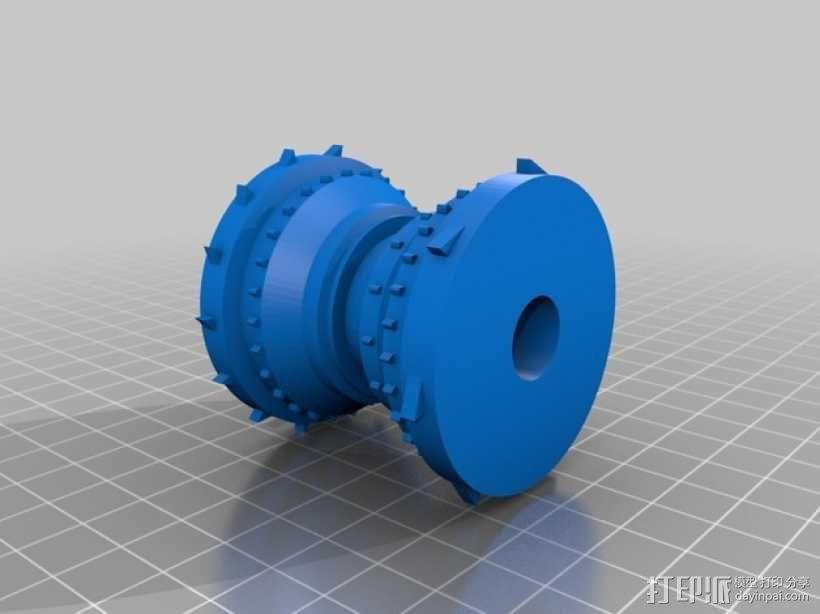 链轮式镇压器 3D模型  图2
