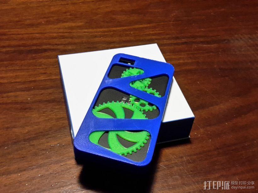齿轮黑莓手机外壳 3D模型  图1