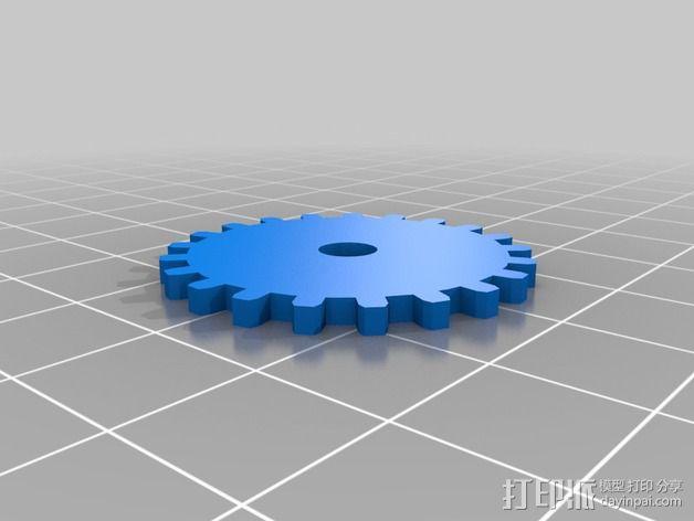 齿轮黑莓手机外壳 3D模型  图3