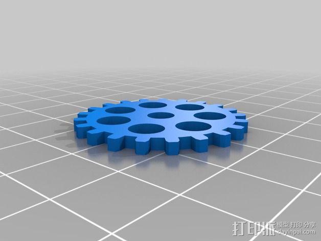 齿轮黑莓手机外壳 3D模型  图2