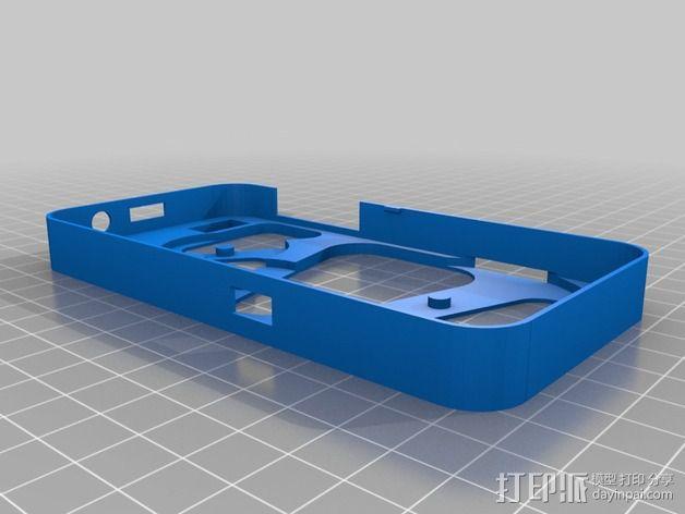 齿轮黑莓手机外壳 3D模型  图6