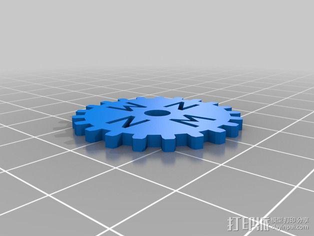 齿轮黑莓手机外壳 3D模型  图4