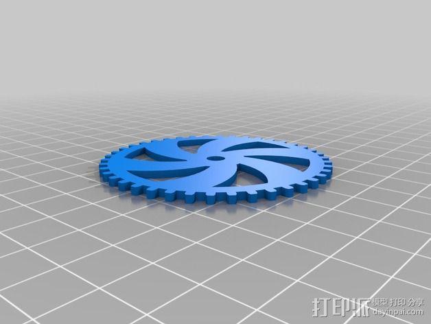 齿轮黑莓手机外壳 3D模型  图5