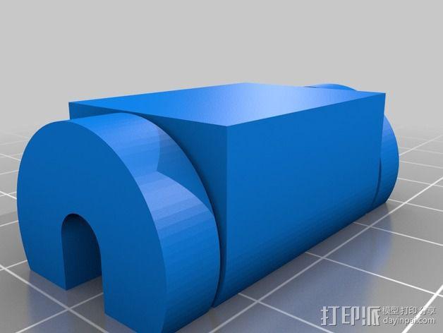 电脑收纳器 电缆固定器 3D模型  图1