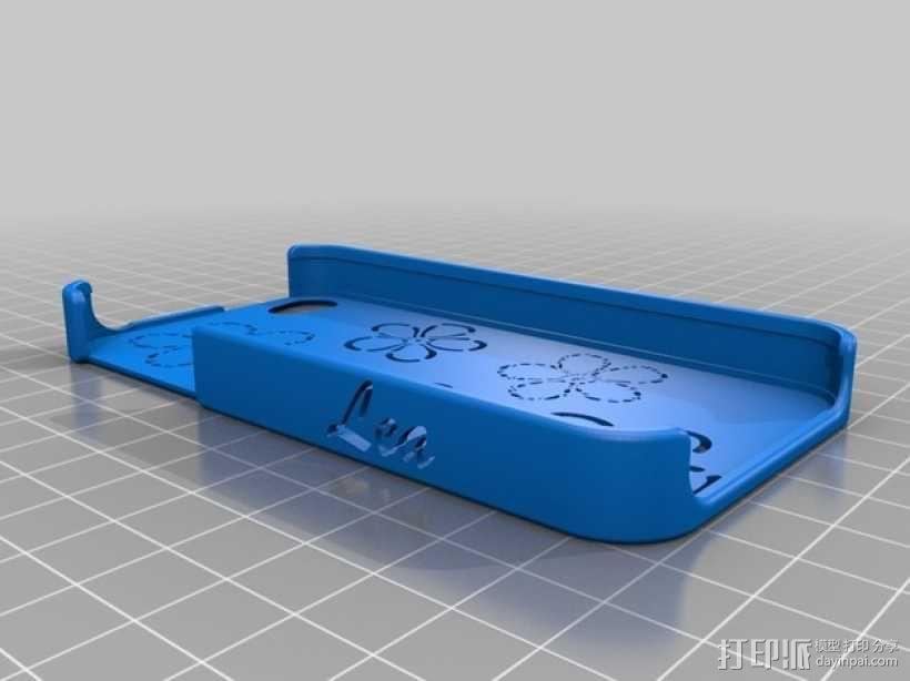 花饰iPhone4S手机外框 3D模型  图2