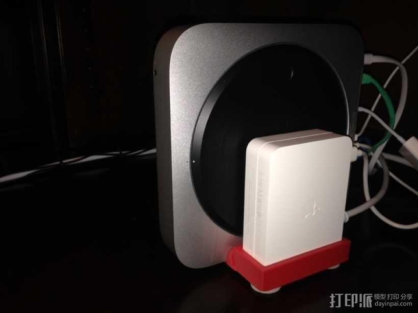 Mac Mini 电脑主机支架 3D模型  图1