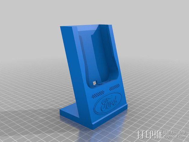 手机充电座 3D模型  图2