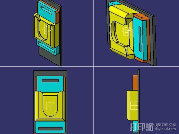 单反相机支撑器 3D模型  图1