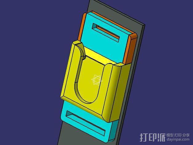 单反相机支撑器 3D模型  图6