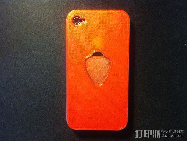 苹果4手机壳 3D模型  图1