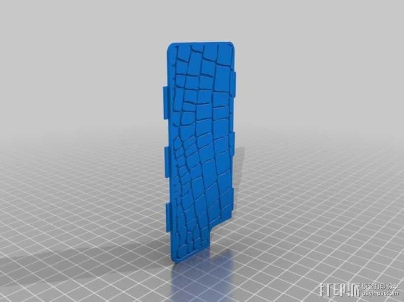 鳄鱼纹手机壳 3D模型  图1