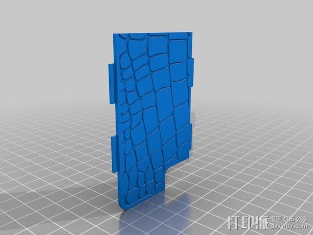 鳄鱼纹手机壳 3D模型  图2