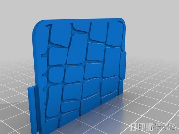 鳄鱼纹手机壳 3D模型  图3