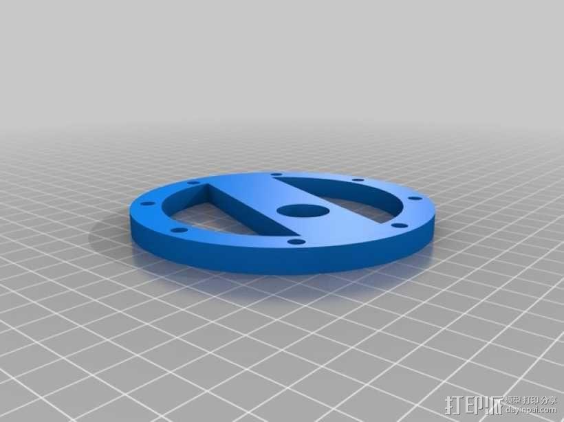 蓝色麦克风蜘蛛 3D模型  图1