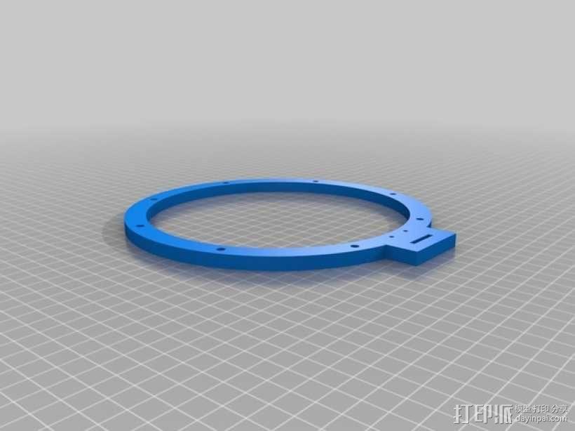 蓝色麦克风蜘蛛 3D模型  图2