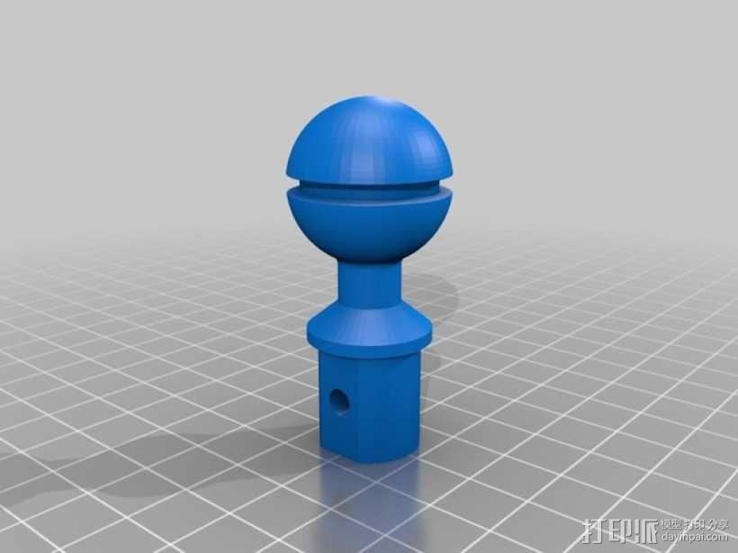 摄像机支撑杆 3D模型  图2