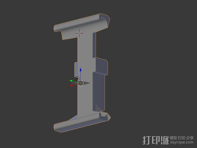 幻影平板夹 3D模型  图3